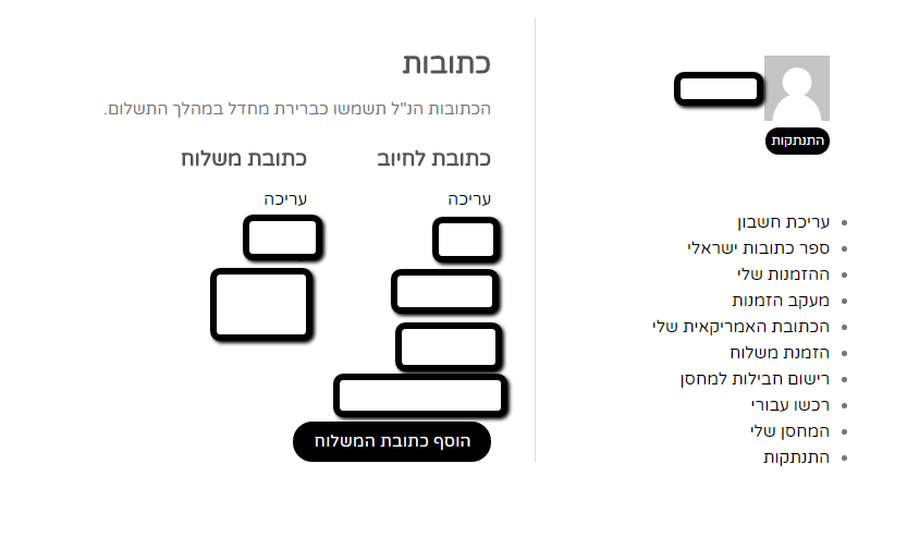 לוטרה ספר כתובות ישראליות